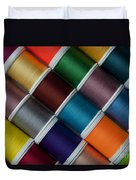 Bright Colored Spools Of Thread Duvet Cover