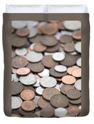 British Coins Sterling Full Frame Duvet Cover