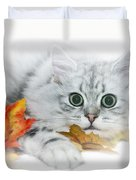 British Longhair Cat Duvet Cover by Melanie Viola