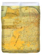 Britton And Reys Guide Map Of The City Of San Francisco. 1887. Duvet Cover