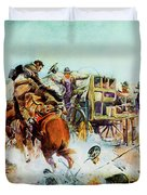 Bronc For Breakfast Duvet Cover