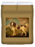 Brown And White Norfolk Or Water Spaniel Duvet Cover