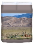 Buck At Great Sand Dunes Duvet Cover