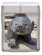 Badger Statue 4 At Uw Madison Duvet Cover