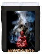 Buddha In Smoke Duvet Cover