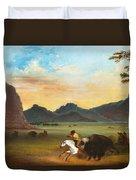 Buffalo Hunt Duvet Cover