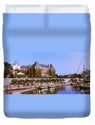 Buildings At The Waterfront, Empress Duvet Cover