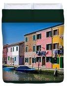Burano, Venice Duvet Cover