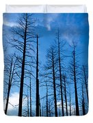 Burnt Pine Trees In A Forest, Grand Duvet Cover