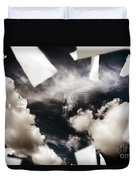 Business Papers Falling In The Sky Duvet Cover