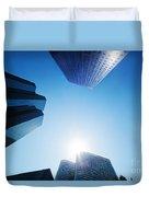 Business Skyscrapers Duvet Cover by Michal Bednarek