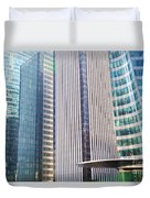 Business Skyscrapers Modern Architecture Duvet Cover