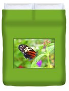 Butterfly On Bush Duvet Cover