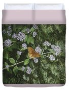 Butterfly On Oregano Duvet Cover