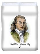 Button Gwinnett (1735-1777) Duvet Cover
