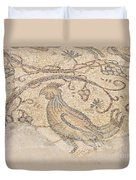 Byzantine Mosaic Depicting Animals And Hunting Scenes. Duvet Cover