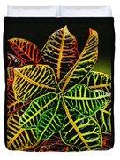 Cadiaeum Crotons Tropical Houseplant Shrub Duvet Cover