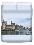 Caernarfon Castle Panorama Duvet Cover