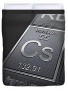 Caesium Chemical Element Duvet Cover