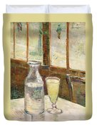 Cafe Table With Absinth  Duvet Cover