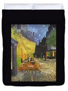 Cafe Terrace At Night Duvet Cover