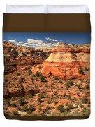 Calf Creek Canyon Red Rocks Duvet Cover