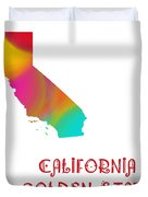 California State Map Collection 2 Duvet Cover