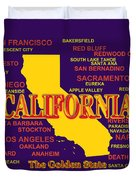 California State Pride Map Silhouette  Duvet Cover