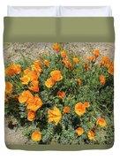 Californian Poppy Eschscholzia Duvet Cover