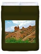 Camel In Camel Valley In Cappadocia-turkey Duvet Cover
