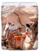 Sitting Camel Duvet Cover