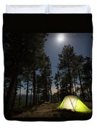 Camping On The Rim Duvet Cover