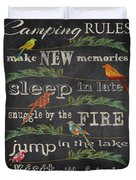 Camping Rules-d Duvet Cover