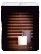 Candles And Bamboo Duvet Cover