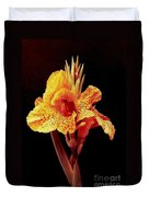Canna Lilly In New Orleans Duvet Cover