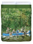 Canoeing With Grandpa Duvet Cover