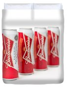 Cans Of Budweiser Beer Duvet Cover