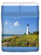 Cape Florida Lighthouse Duvet Cover