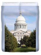 Capitol Building In Little Rock Duvet Cover