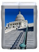 Capitol Hill Building In Washington Dc Duvet Cover
