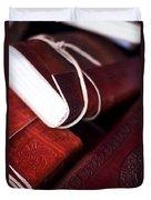 Captains Log Books Duvet Cover