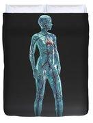 Cardiovascular System Female Duvet Cover