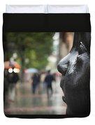 Carmen Awake Street Sculpture Duvet Cover