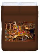 Carousel In Bournemouth Duvet Cover