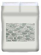 Carpet Of One Dollar Bills Duvet Cover