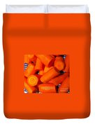 Carrots Ready To Cook Duvet Cover