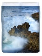 Carved By The Sea Duvet Cover