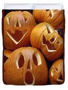 Carved Pumpkins Duvet Cover