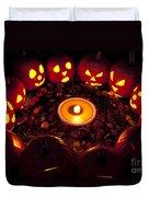 Pumpkin Seance With Pumpkin Pie Duvet Cover