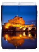 Castel Sant Angelo Duvet Cover by Brian Jannsen
